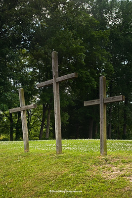 Three Crosses at Hillside Free Will Baptist Church, Pitt County, North Carolina