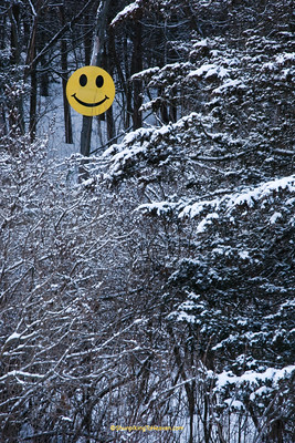 December Smiley Face, Sauk County, Wisconsin