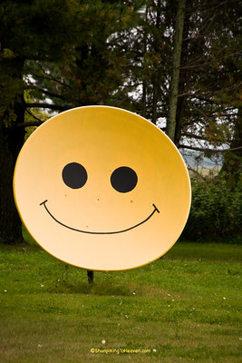 Satellite Dish Smiley Face, Langlade County, Wisconsin