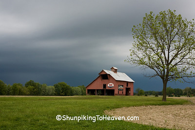 Red Barn and Approaching Storm, Vigo County, Indiana