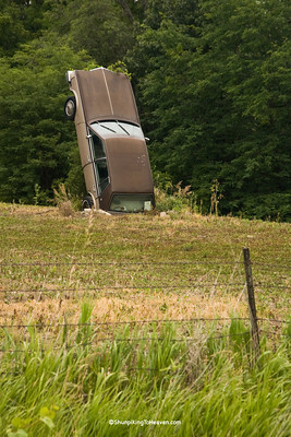 Car Sculpture, Iowa County, Iowa