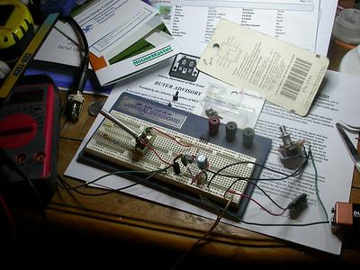 Amp on breadboard
