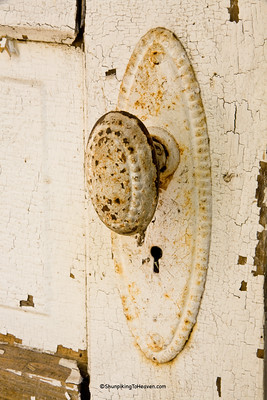 Fancy Doorknob on Old Brick Outhouse, Portage County, Wisconsin