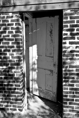 Doorway of Old Brick Outhouse, Portage County, Wisconsin