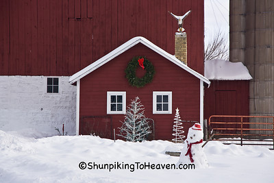 Christmas Farm Scene, Sauk County, Wisconsin
