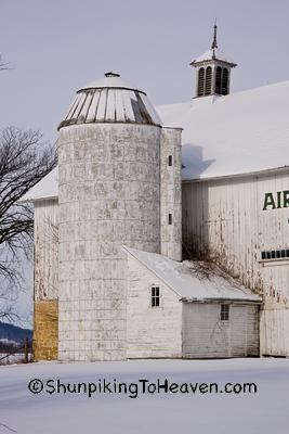 Silo and Silo Room at Airy Knoll Farm, Sauk County, Wisconsin