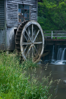 Overshot Wooden Waterwheel on Hyde's Mill, Iowa County, Wisconsin
