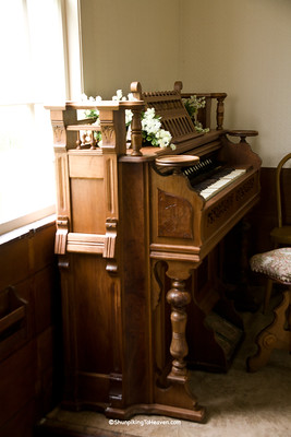 Antique Pump Organ at Hyde Chapel, Iowa County, Wisconsin