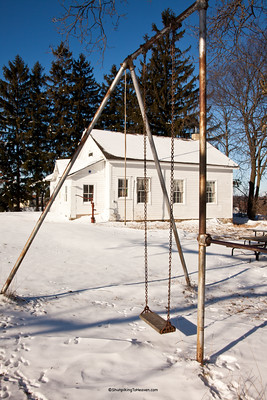 Swing Set at Friendship School, Sauk County, Wisconsin