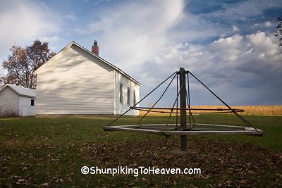 Merry-Go-Round at Walnut School, 1863, Washington County, Iowa