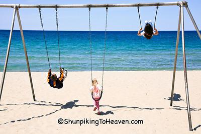 Swinging by Lake Michigan, Charlevoix, Michigan