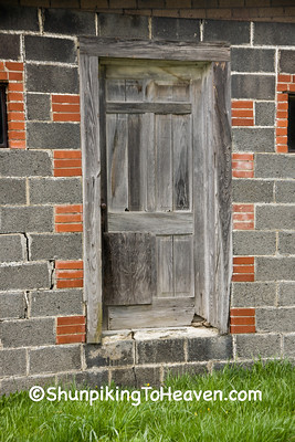 Door on Old Concrete Block Building, Watauga County, North Carolina