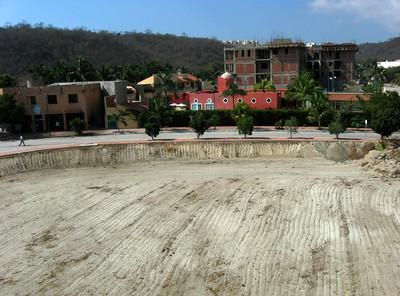 Chahué under construction, Huatulco, Mexico.