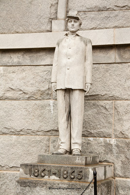Statue of Civil War Soldier at Camp Randall, Madison, Dane County, Wisconsin