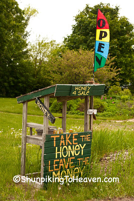 Amusing Self-Serve Honey Stand, Washington County, Wisconsin