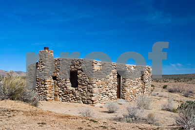 Bert G. Smith homestead above Camp Rock Spring in the Mojave Desert