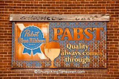 Rusty Old Pabst Blue Ribbon Sign, Juneau County, Wisconsin