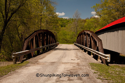 Ponn Humpback Covered Bridge, 1874, and Pony Truss Bridge, 2008, Vinton County, Ohio