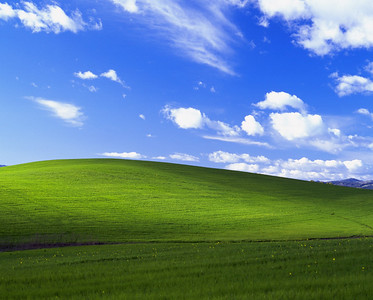 Windows XP default wallpaper by Charles O'Rear