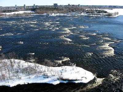 Deschenes Rapids in the Ottawa River.