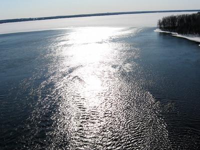 Ottawa River looking westward (upstream) from the Deschenes Rapids.