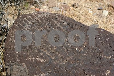 Kawaiisu petroglyph at Sheep Springs in the El Paso Mountains, California