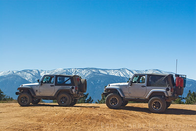 Jeep JKs on Skyline Drive in Big Bear
