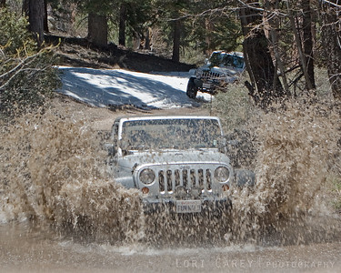FunN4Lo making a splash on a trail in Big Bear