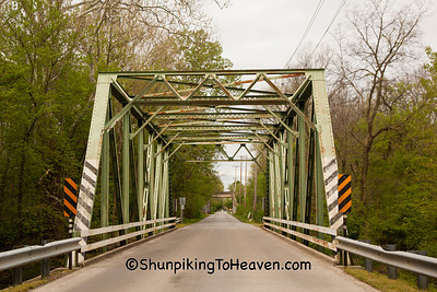 Through Truss Bridge over Fall Creek, Madison County, Indiana