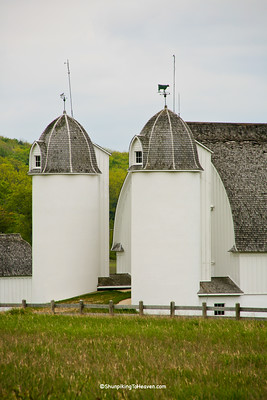 Twin Silos on D.H. Day Farm, c. 1880-1890, LeeLanau County, Michigan