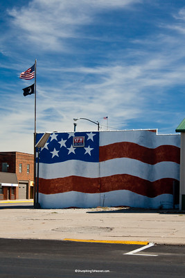 U.S. Flag Mural, VFW Post 1655, Newton, Iowa