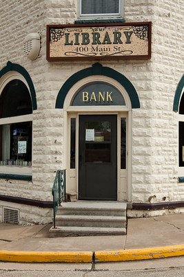Hollandale Lending Library (Farmers Savings Bank Building), Iowa County, Wisconsin