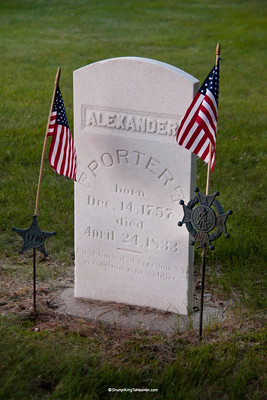 Revolutionary War Veteran Alexander Porter, Old Fort Winnebago Cemetery, Columbia County, Wisconsin