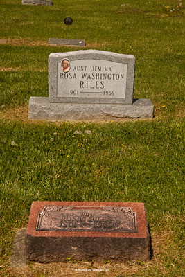 Gravestone of Rosa Washington, a 1950s Quaker Oats