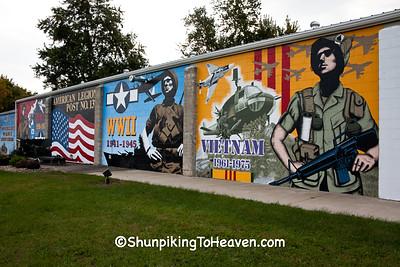 American Legion Veterans Mural, Dyersville, Iowa