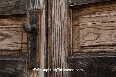 Doorknob on Door of Moore's Memorial Chapel, Blue Creek, Ohio