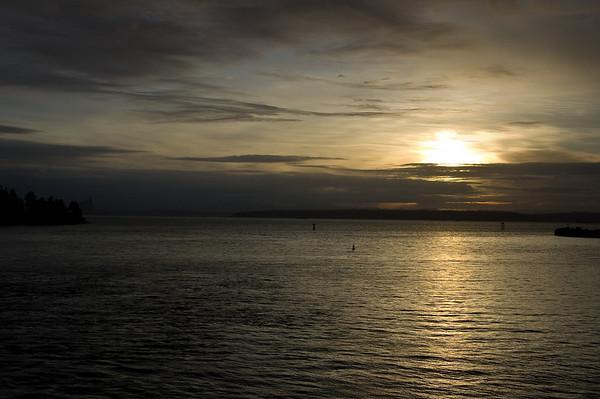 sunrise over Eagle Harbor