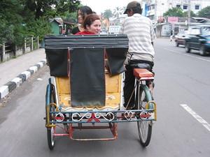 Becak ride