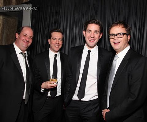 Brian Baumgartner, Ed Helms, John Krasinski, Rainn Wilson Golden Globes