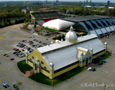 This is a Tiny Town version of the Aberdeen Pavilion at Lansdowne Park in Ottawa, Ontario. It is a heritage building also known as the Cattle Castle as a consequence of livestock fairs being held there.
