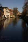Looking out on the canals of Bruges.