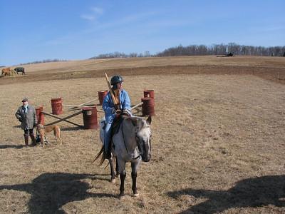 SCA equestrian practice Rachel and Pete