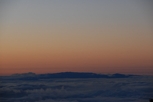 Haleakala as viewed from Mauna Kea, Hawaii