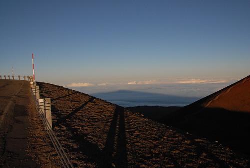 Shadow of Mauna Kea on the Clouds, Hawaii