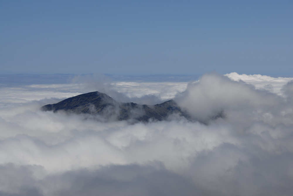 Cinder cone seen from Haleakala, Maui, Hawaii