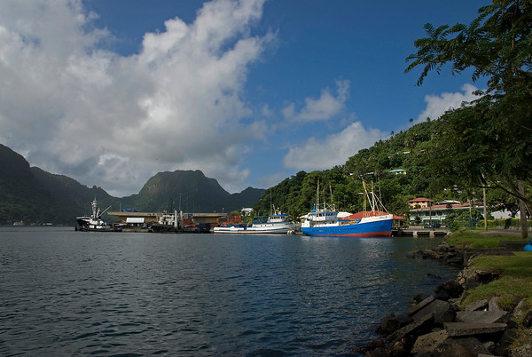 The beautiful pre-tsunami Pago Pago harbor in American Samoa