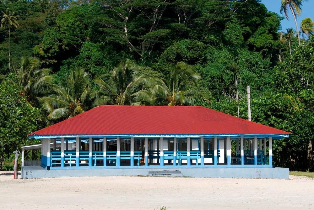 Samoan village fale