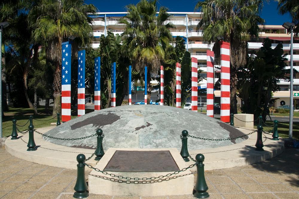 American WWII memorial in Noumea, New Caledonia