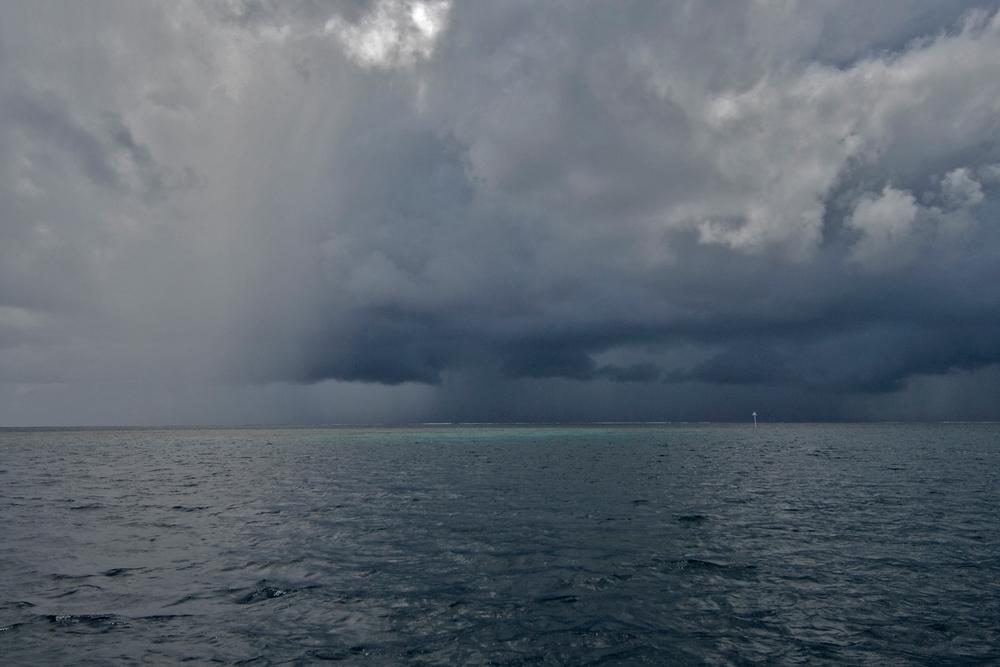 Storm in Pohnpei Lagoon, Micronesia