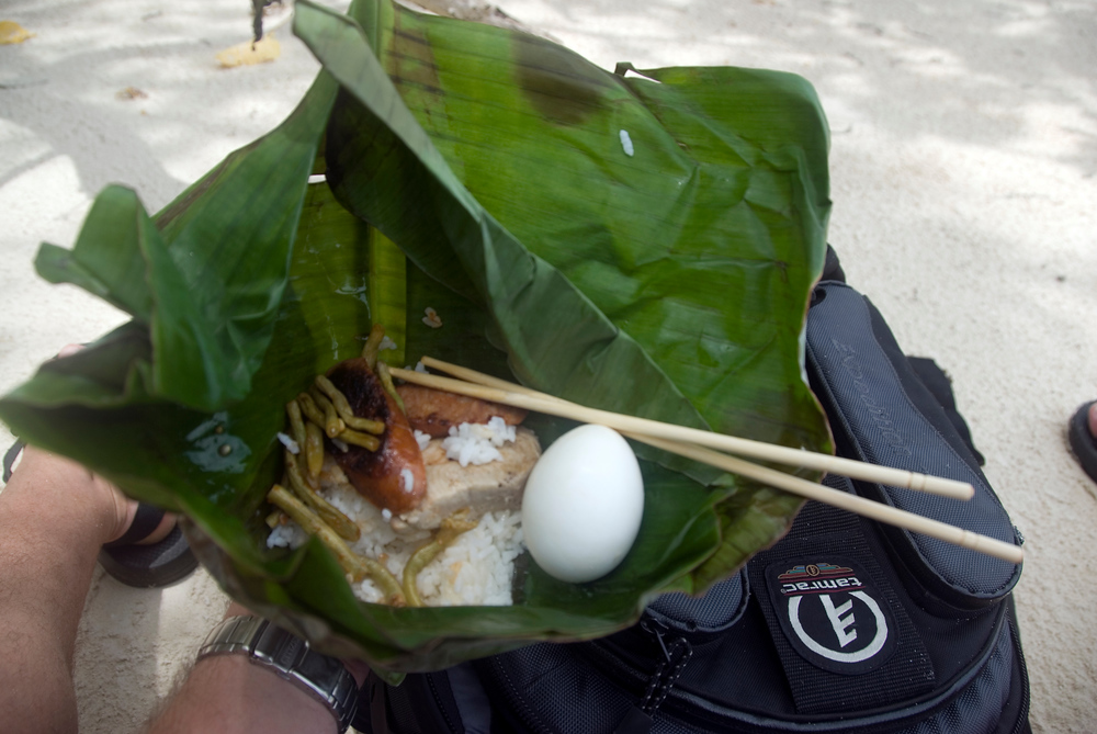 Lunch in a banana leaf